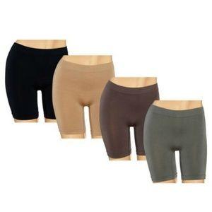 Breezies~Set of 4~Seamless Long Leg Panties NEW